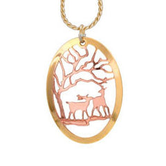 Deer Cut-out Necklace