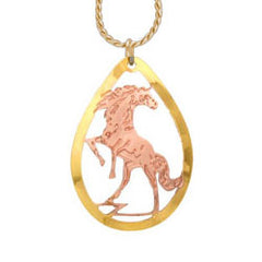 Horse Cut-out Necklace