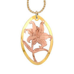 Flower Cut-out Necklace