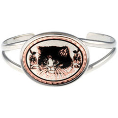 Cat Oval Wire Bracelet