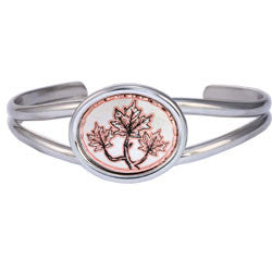 Maple Leaf Small Oval Bracelet