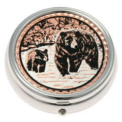 Bear and Cub Pill Box
