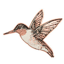 Hummingbird Copper Pin