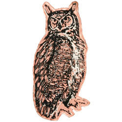 Owl Copper Pin