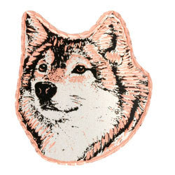 Wolf Copper Pin