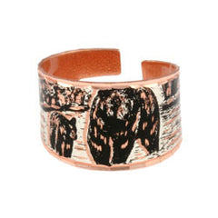 Bear and Cub Copper Ring