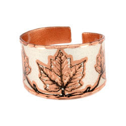 Maple Leaf Copper Ring