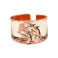 Dolphin Copper Ring