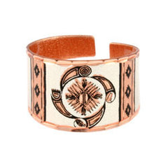 Native Wheel of Life Copper Ring