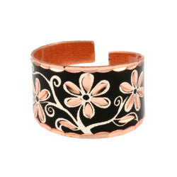 Floral Design Copper Ring