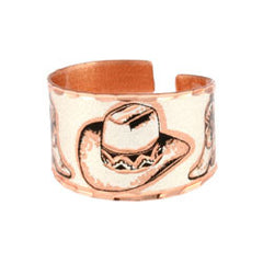 Western Cowboy Boots Copper Ring