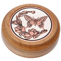 Butterfly Round Wood Box