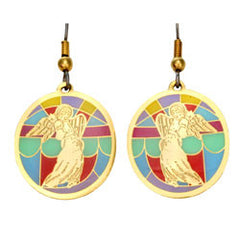 Angel Stained Glass Earrings