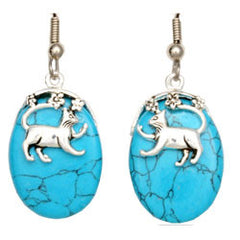 Cat Turquoise Reflections Earrings