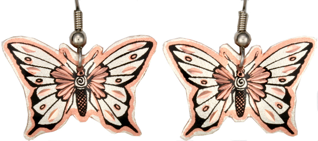 Native Butterfly Copper Earrings
