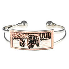 Bear and Cub Wire Bracelet