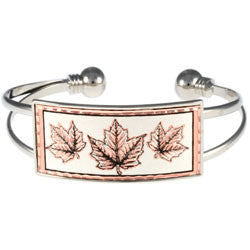 Maple Leaf Wire Bracelet