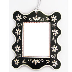 Floral Design Photo Frame Ornament