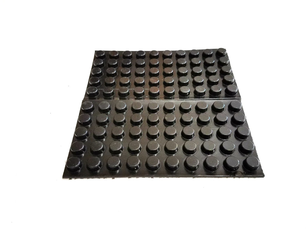 100 Self Adhesive Round Rubber Bumper Feet 12.7Mm (1/2) Diameter X 6.4Mm (1/4) Height (Multiple