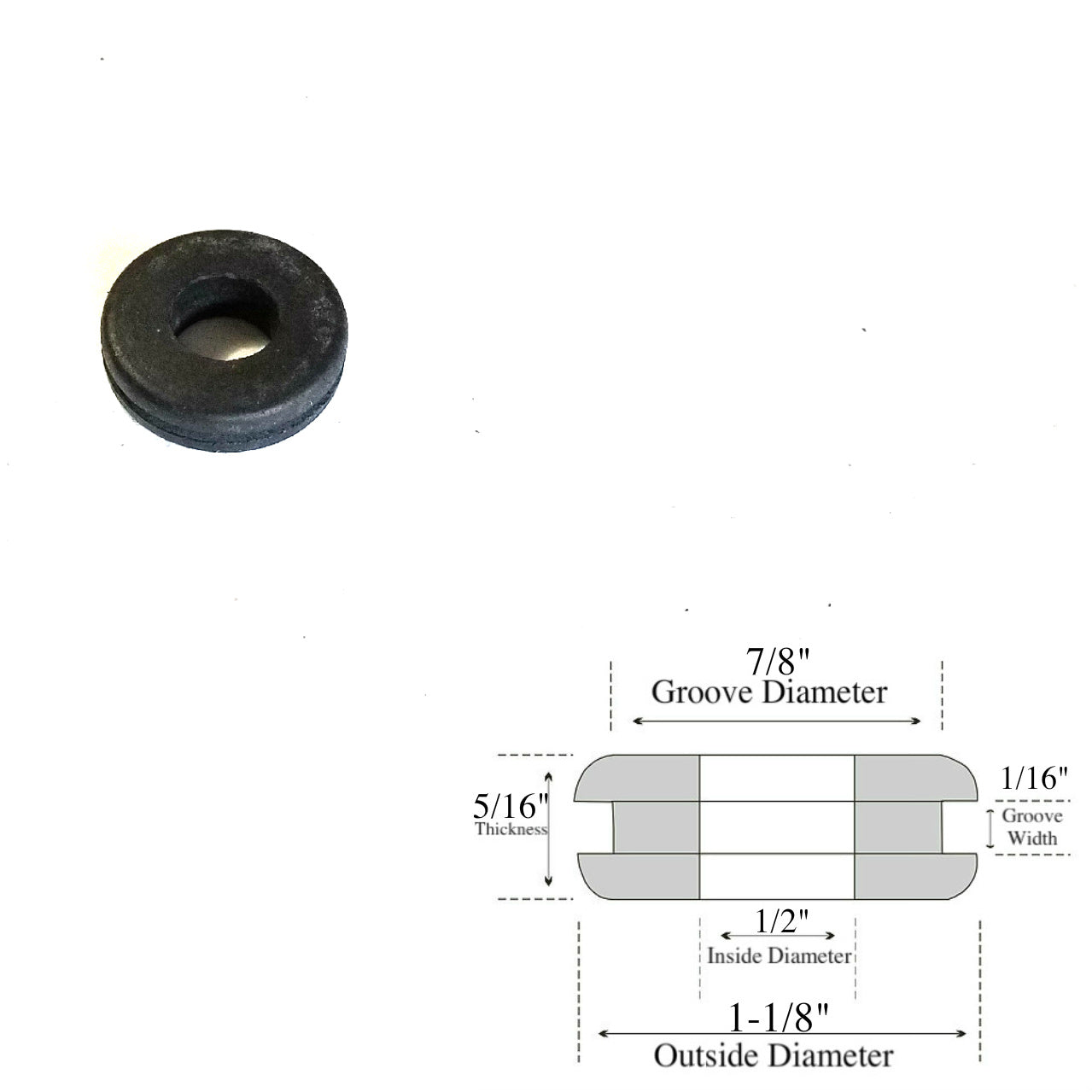 Lot of 100 Rubber Grommets 1//4 Inside Diameter 1//4 Thick Fit 3//8 Panel Hole