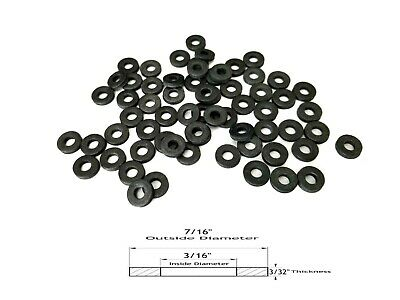 "(50) Neoprene Rubber Washers - 7/16"" OD - 3/16"" Inside Diameter - 3/32 Thickness"