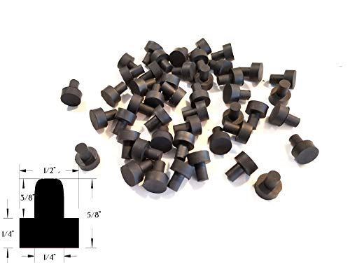 "25 Push-in Rubber Feet for Kitchen Appliances and Electronics 1/4"" Stem Diameter"