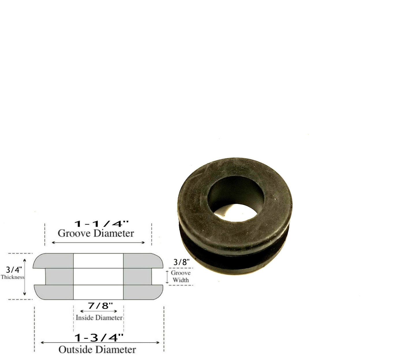"24 Rubber Grommets 5//16/"" Inner Diameter Fits 9//16/"" panel hole 1//8/"" Groove"