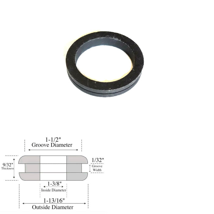"1-3/8"" Inside Diameter Rubber Grommet - 1/32 Gw - Fit 1-1/2"" Hole"