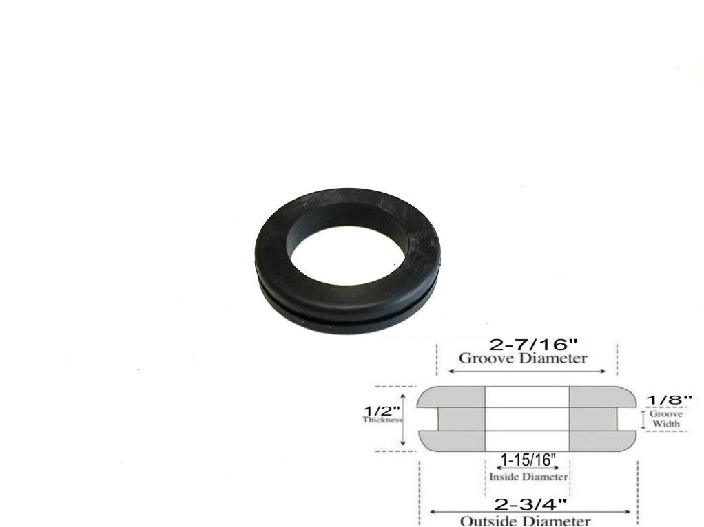 Rubber Grommet to fit 1//2 Hole in 1//8 Thick Panel 5//16 ID 8