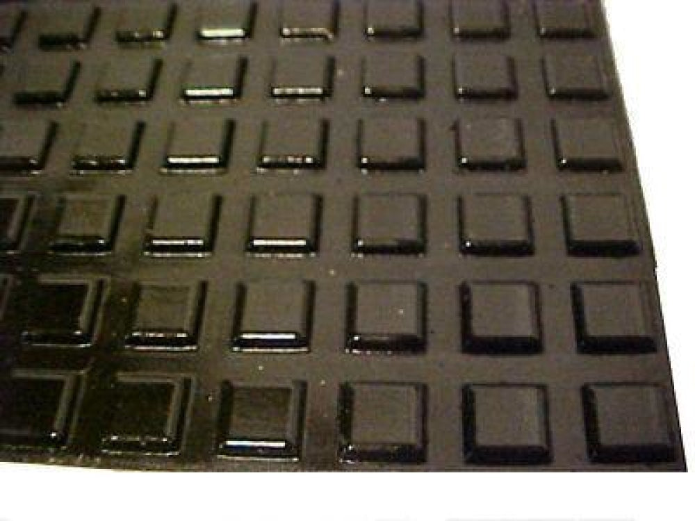 Black Self Adhesive Square Rubber Bumper Feet 1/2(12.7Mm) * 1/8(3Mm) / Feet