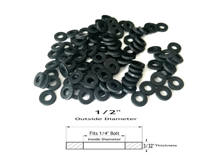 """Various Pack Sizes 3//8/"""" ID x 1 1//4/"""" OD x 1//8/"""" Oil Resistant Rubber Washers"""