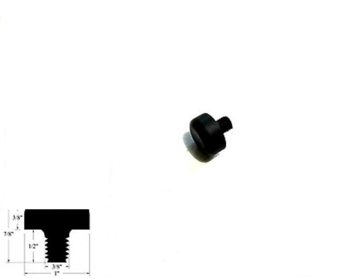 "Rubber Bumper Feet With 3/8 Threaded Rubber Stud Dia x  1/2"" Stud Length"