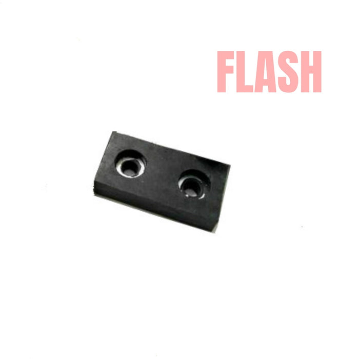 "2"" Rectangular Rubber Bumper Pads with Metal Washers"