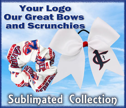 Sublimated Cheer Bows and Scrunchies