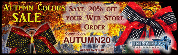 Autumn Colors Sale Cheer Bow Coupon
