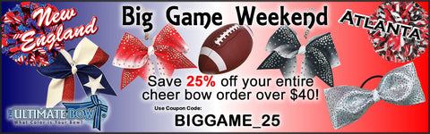 Big Game Sale - Cheer Coupon - Save on Cheer Bows