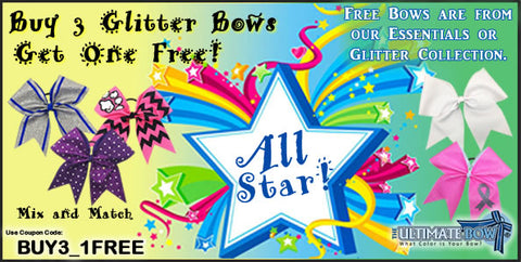 Buy 3 Get 1 Free - Bow Sale - Cheer Bows - FREE Cheer Bows