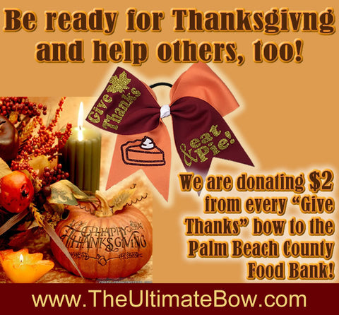 Give Thanks Eat Pie and Donate to the Palm Beach County Food Bank