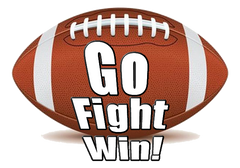 Go Fight Win Football Cheer Bow