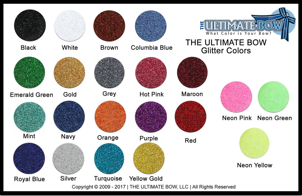 The Ultimate Bow - Glitter Color Chart