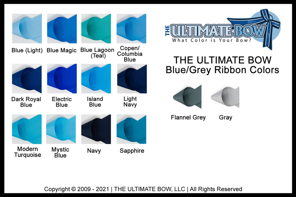 Blue and Grey Ribbon Color Choices