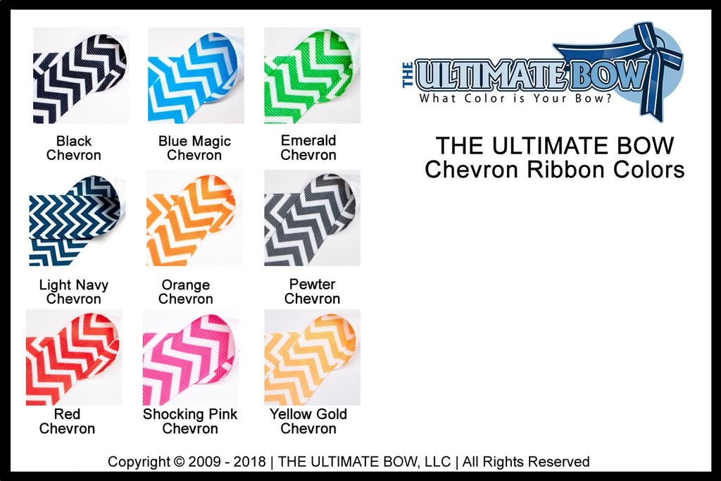 chevron printed ribbon colors | grosgrain ribbon colors | red chevron | blue chevron | black chevron