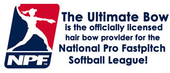 official-licensed-hair-bow-supplier-National-Pro-Fastpitch-softball-league-girls-professional-softball