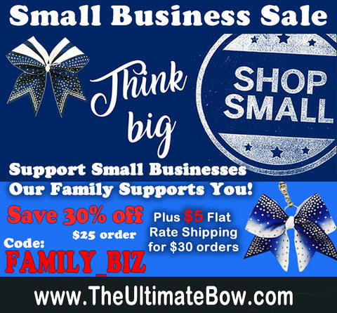 Support Small Businesses!  Save today on your cheer bows!