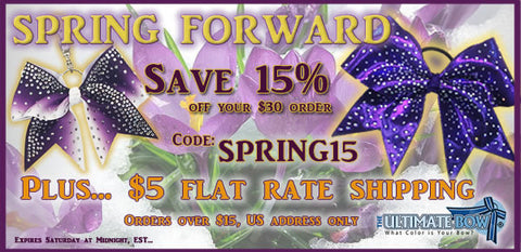 Spring-Forward-cheer-bow-sale-flat-rate-shipping