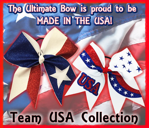 made in the USA - The Ultimate Bow - American Made - Cheer Bows - Cheerleading Hair Bows - Softball Bows