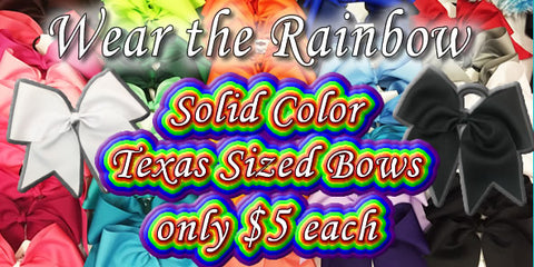 solid color texas sized cheer bow sale