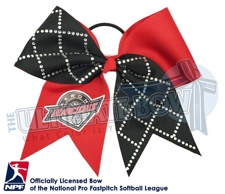 Akron-Racers-Hair-bow-softball-licensed-turn-two-official-logo-professional-softball-NPF-National_Pro_Fastpitch-Softball-League