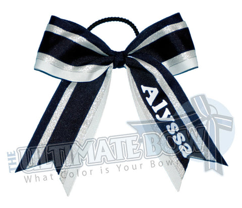 Alma Mater Personalized Cheer Bow | Personalized Softball Bow