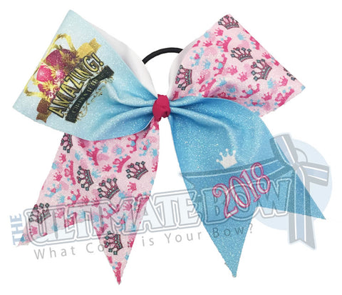 Spirit Celebration - Amazing Crown Jubilee Glitter Cheer Bow